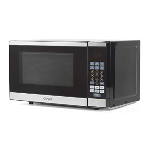 Commercial Chef CHM770SS Countertop Microwave with Stainless Steel...