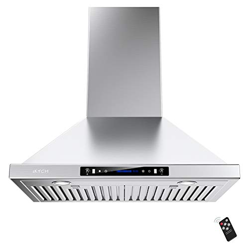 IKTCH 36-inch Wall Mount Range Hood 900 CFM Ducted/Ductless...