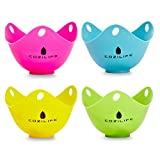 Egg Poacher – COZILIFE Silicone Egg Poaching Cups with Ring...