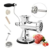 Huanyu Manual Meat Grinder Stainless Steel Hand Meat Sausage Stuffer...