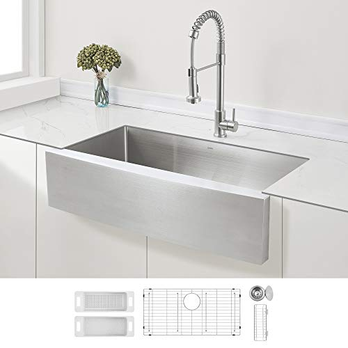 ZUHNE Stainless Steel Farmhouse Kitchen Sink (36-Inch Apron Front,...