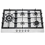 Cosmo 850SLTX-E Gas Cooktop with 5 Burners, Counter Cooker with Cast...
