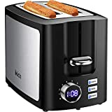 IKICH Toaster 2 Slice, LCD Screen Stainless Steel Toaster, Wide Slot 2...