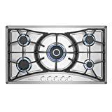 Empava 36 in. Gas Stove Cooktop with 5 Italy Sabaf Sealed Burners...