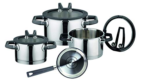 ELO Premium Black Pearl Stainless Steel Kitchen Induction Cookware...