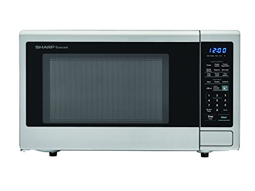 SHARP Stainless Steel Carousel 1.8 Cu. Ft. 1100W Countertop Microwave...