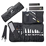 Chef Knife Roll Bag (17 Slots) Holds 12 Knives, Meat Cleaver and...
