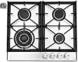 Ramblewood High Efficiency 4 Burner Natural Gas Cooktop, Sealed Burner...