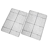Checkered Chef Cooling Rack - Set of 2 Stainless Steel, Oven Safe Grid...