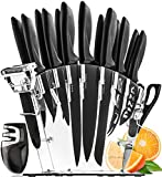 Home Hero 17 Pieces Kitchen Knives Set, 13 Stainless Steel Knives +...