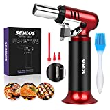 Butane Torch with Fuel Gauge, Semlos Refillable Blow Torches with...