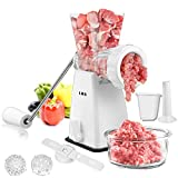 Manual Meat Grinder with Stainless Steel Blades Heavy Duty Powerful...