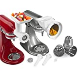 KitchenAid 80127 Stand Mixer Attachment with Food Grinder, Rotor...