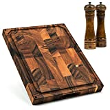 SMIRLY Butcher Block Cutting Board: Large Wood Cutting Board for...