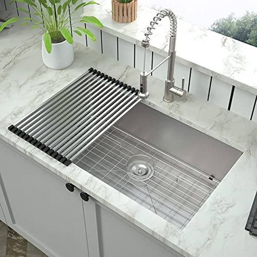 Undermount Kitchen Sink -Mocoloo 33'x19' 16 Guage Stainless Steel 10...