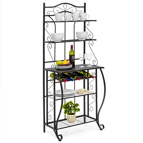 Best Choice Products Multiuse 5-Tier Metal Kitchen Bakers Rack,...
