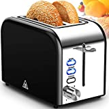 Toaster 2 Slice Extra Wide Slot Toasters Best Rated Prime Stainless...