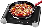 Cusimax Hot Plate Electric Burner Single Burner Cast Iron Heating...
