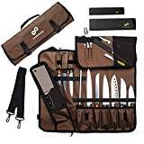 EVERPRIDE Chef Knife Roll Bag Holds 10 Knives – Contains 2 Large...