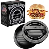 Burger Press with Recipe eBook, Different Size Patty Molds and Non...