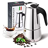 Stovetop Espresso Maker with Stainless Steel, Moka Pot,Easy to Operate...