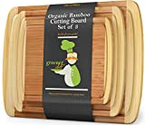 Wood Bamboo Cutting Board – Set of 3 – 3-PIECE PREMIUM VALUE PACK...