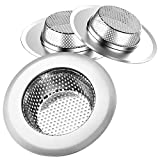 Helect 3-Pack Kitchen Sink Strainer Stainless Steel Drain Filter...