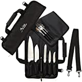 Chef Knife Roll Bag (6 slots) is Padded and Holds 5 Knives PLUS a...