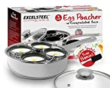 EXCELSTEEL Non Stick Easy Use Rust Resistant Home Kitchen Breakfast...