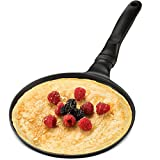 GOURMEX Black Induction Crepe Pan, With PFOA Free Nonstick Coating |...