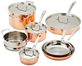 Cuisinart Copper Tri-Ply Stainless Steel 11-Piece Cookware Set