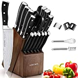 Knife Set, 21 Pieces Kitchen Knife Set with Block Wooden, Germany High...