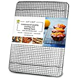 Oven-Safe 100% Stainless Steel Wire Cooling Rack for Baking - Large...