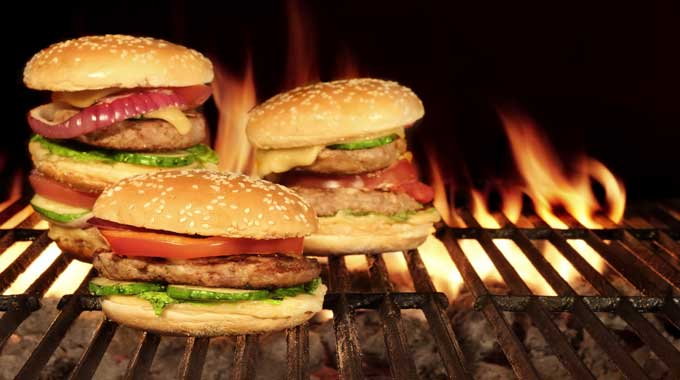 Cooking-burger-on-the-stove
