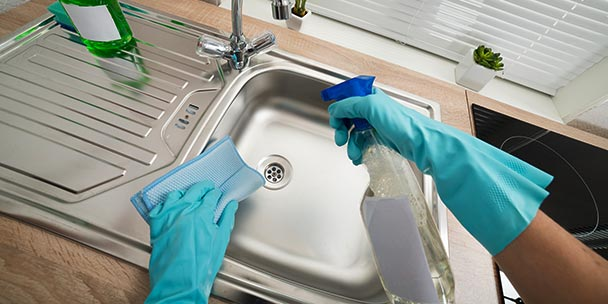 Clean Your Kitchen Sink Stains
